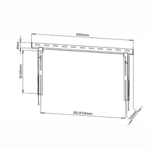 Low Profile TV Mount for 32 to 60 inch TVs