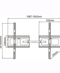 Low Profile TV Wall Mounts for 60 to 102 TV