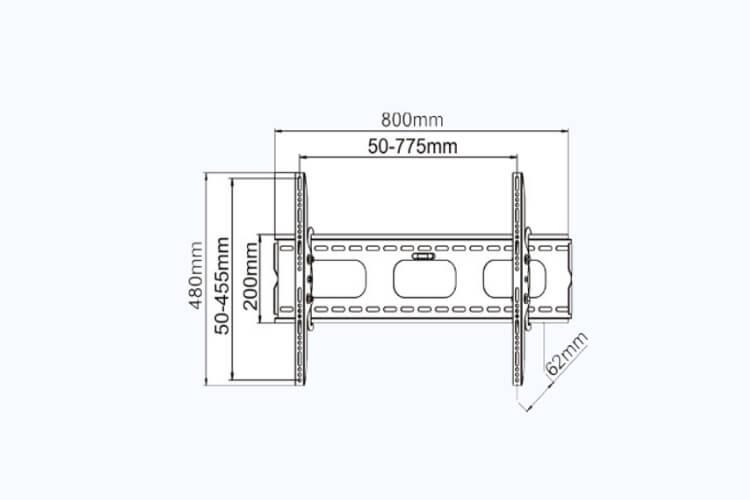 new tilting tv wall mount for 32 u0026 39  u0026 39 - 60 u0026 39  u0026 39  tv