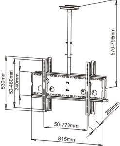 dual ceiling tv wall mount